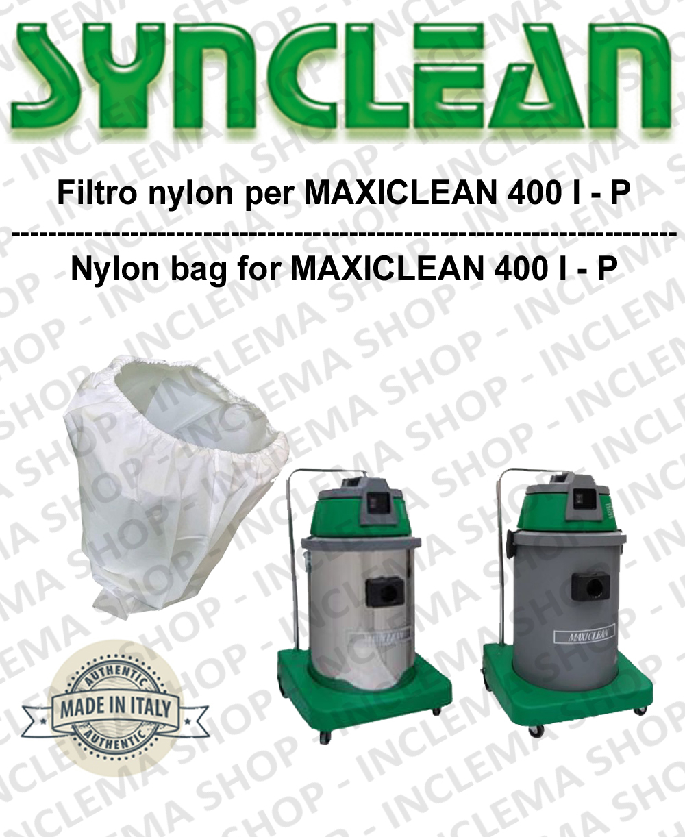SACCO Filtro de Nylon cod: 3001215 para aspiradora MAXICLEAN Model MX400 BY SYNCLEAN