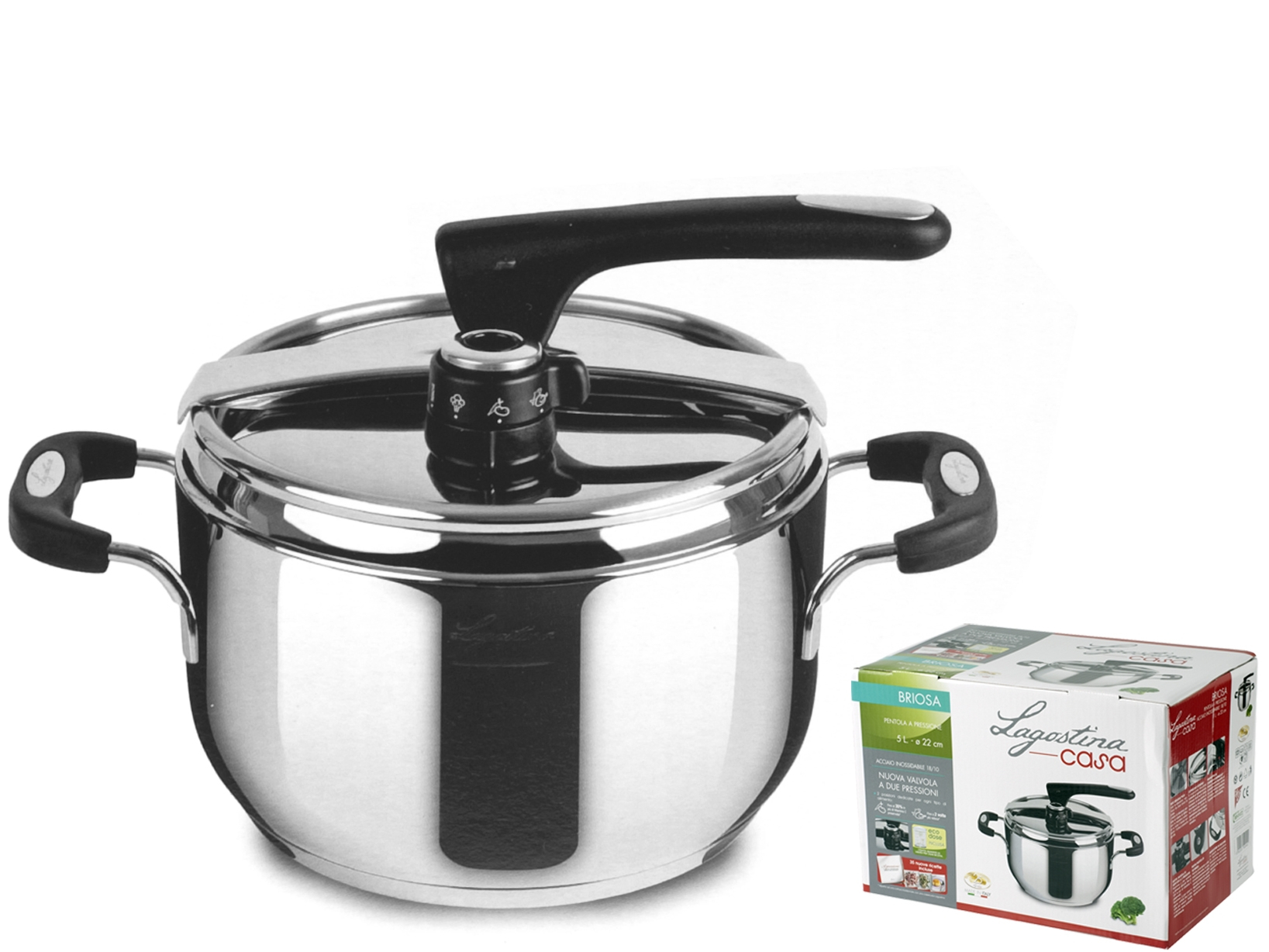Buy Pressure Cooker Briosa Stainless Steel 3110505 | Italy2Us.com