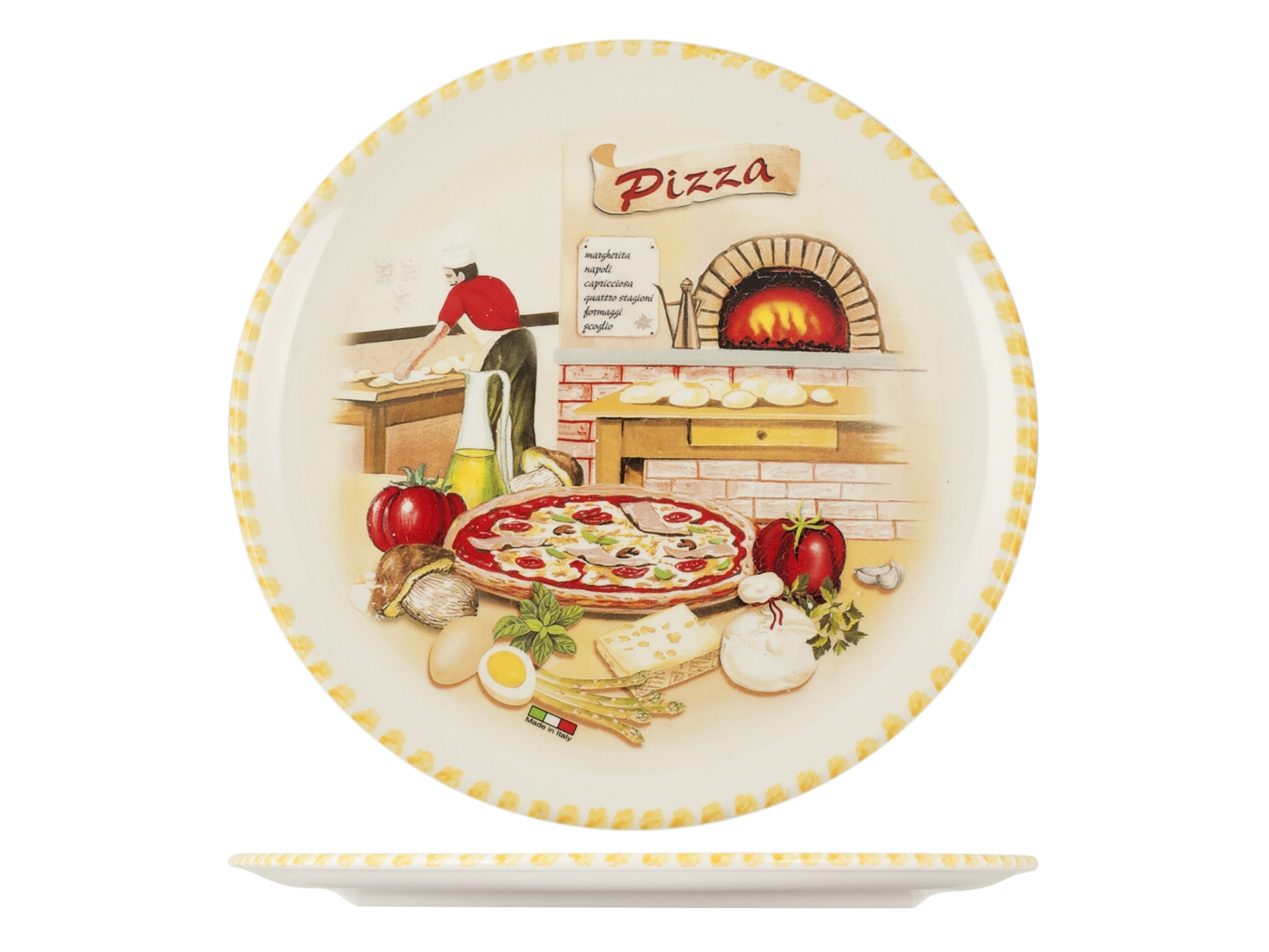 Buy Pizza Plate Ceramic Cm34 Bake 17457652 | Italy2Us.com