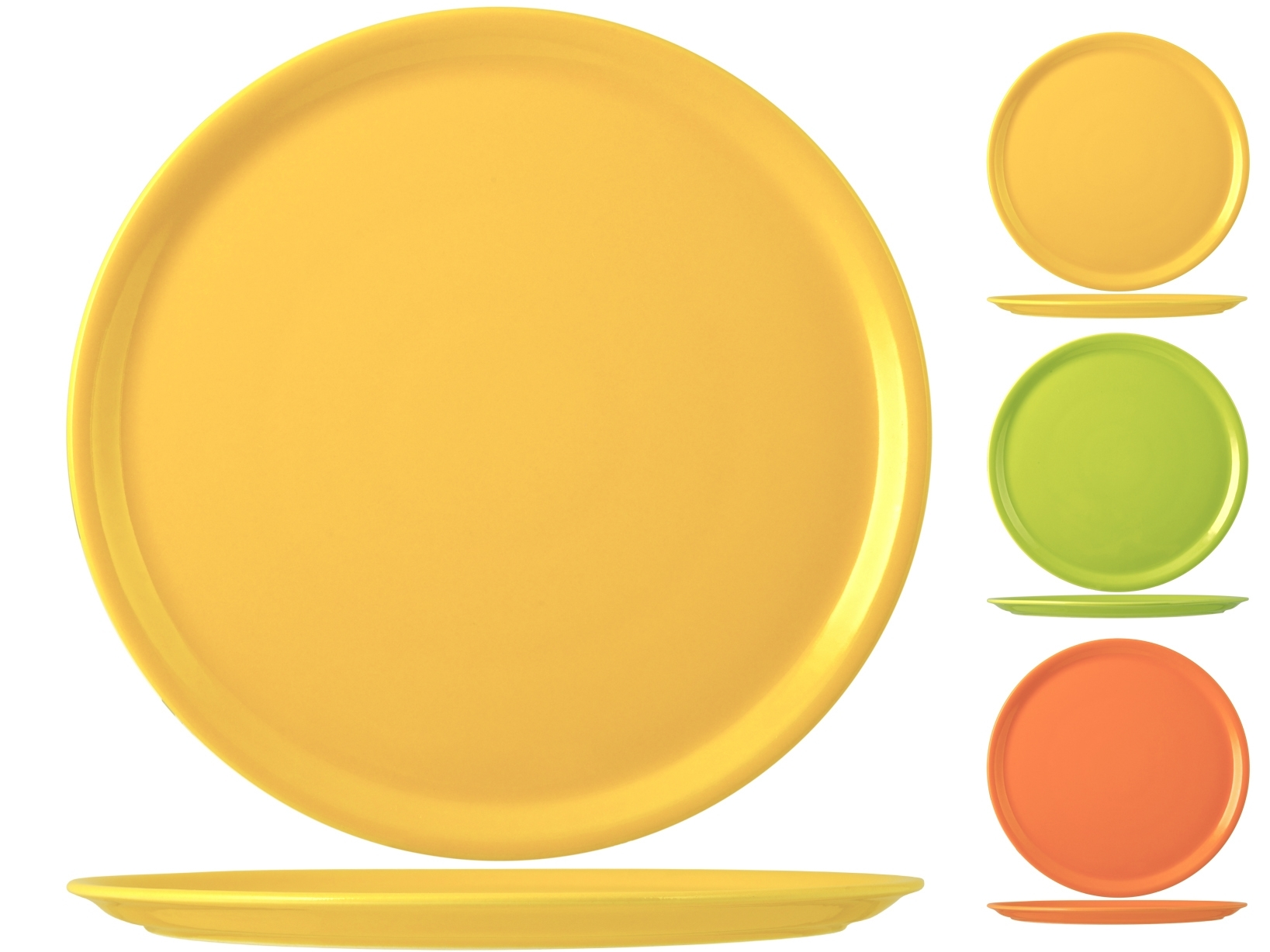 Buy Set 6 Pizza Plates Porcelain Assorted 17457660 | Italy2Us.com