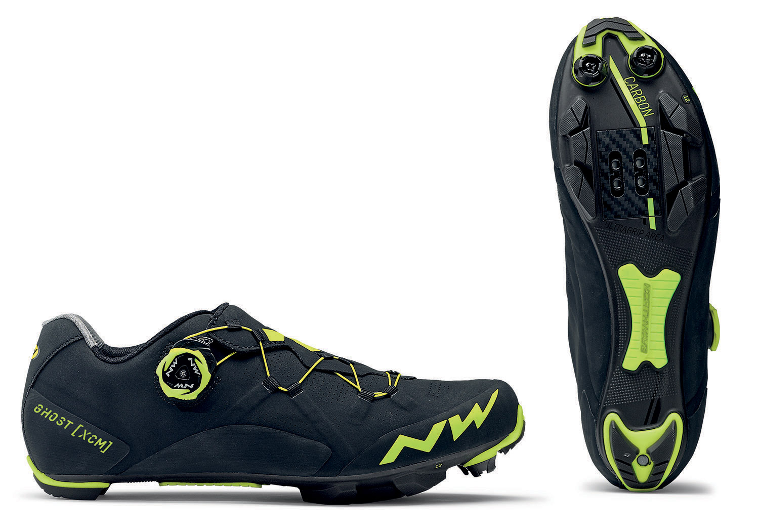NORTHWAVE Shoes MTB cross country man GHOST XCM black/yellow fluo