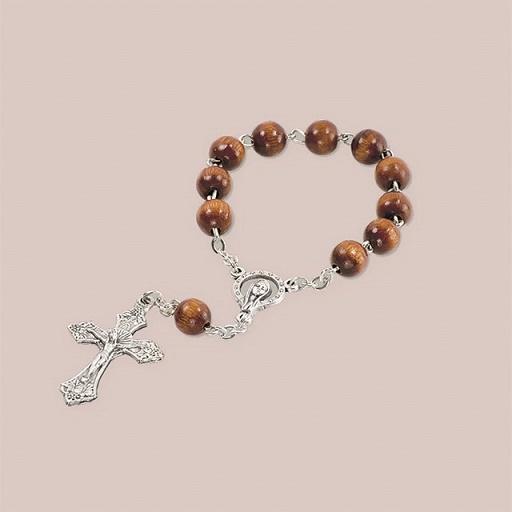 Decina rosario in legno