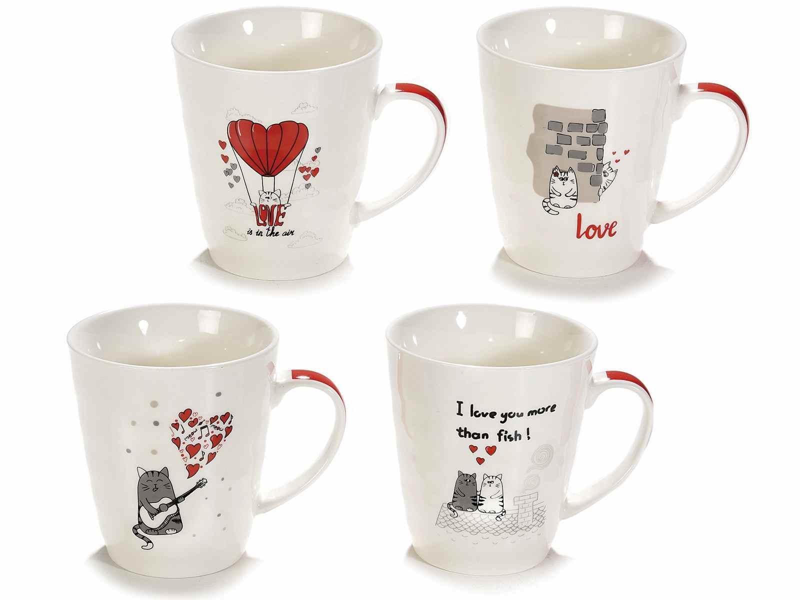 Tazza in ceramica con Gattini innamorati (720523)