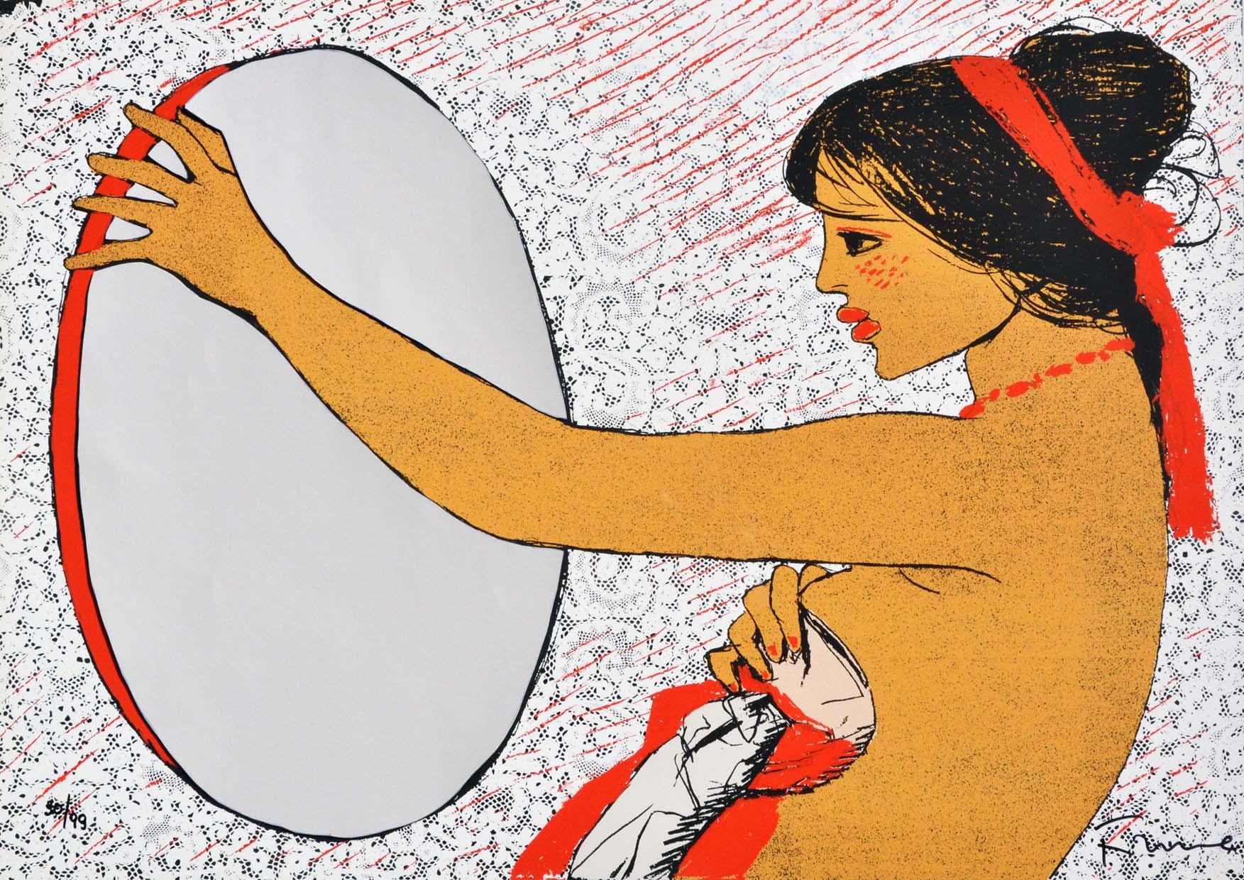 Fiume Salvatore, Specchio delle mie brame, Serigrafia, Form. cm 50x70