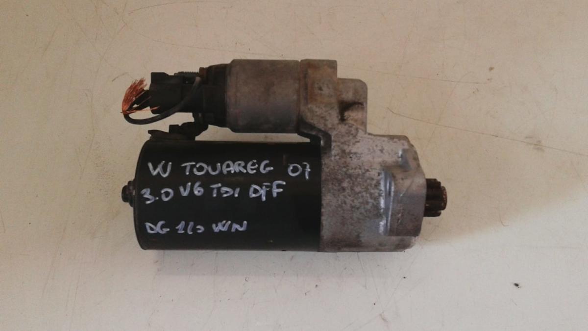 Motorino avviamento usato originale Volkswagen Touareg 3.0 V6 TDI