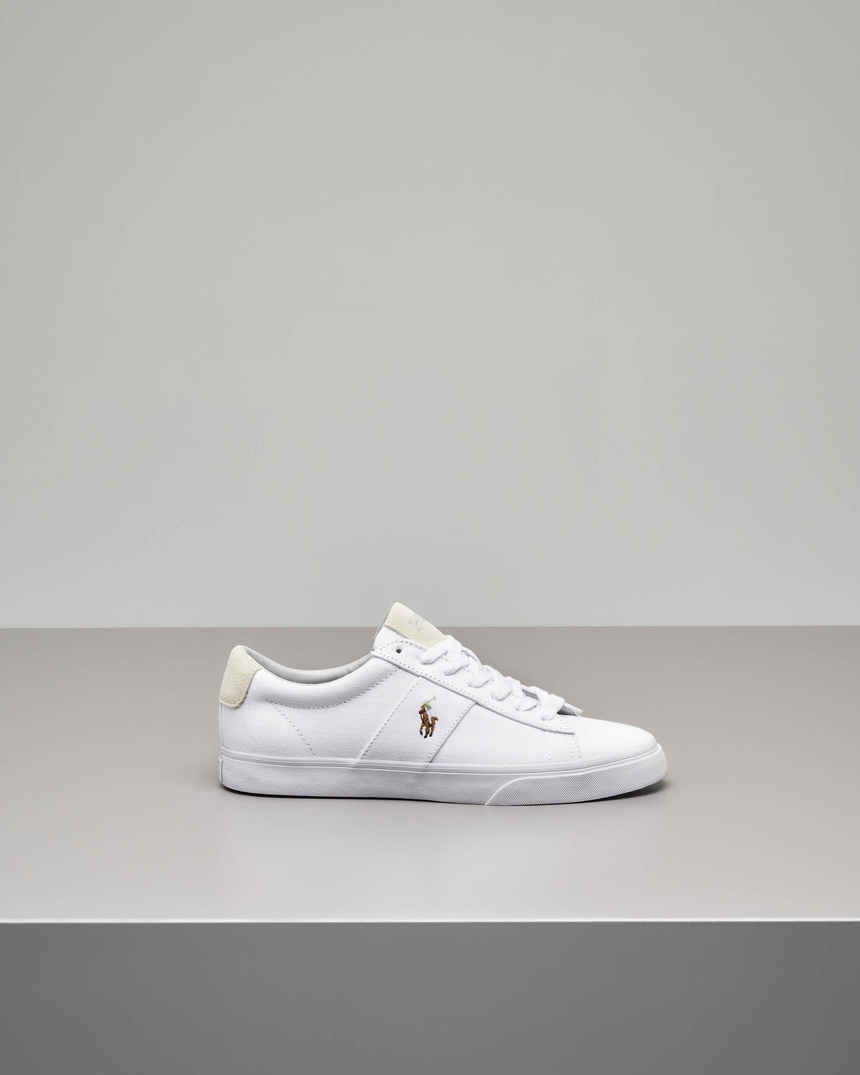 ade4e0963878d4 Sneakers Sayer bianche in tela | Pellizzari E-commerce