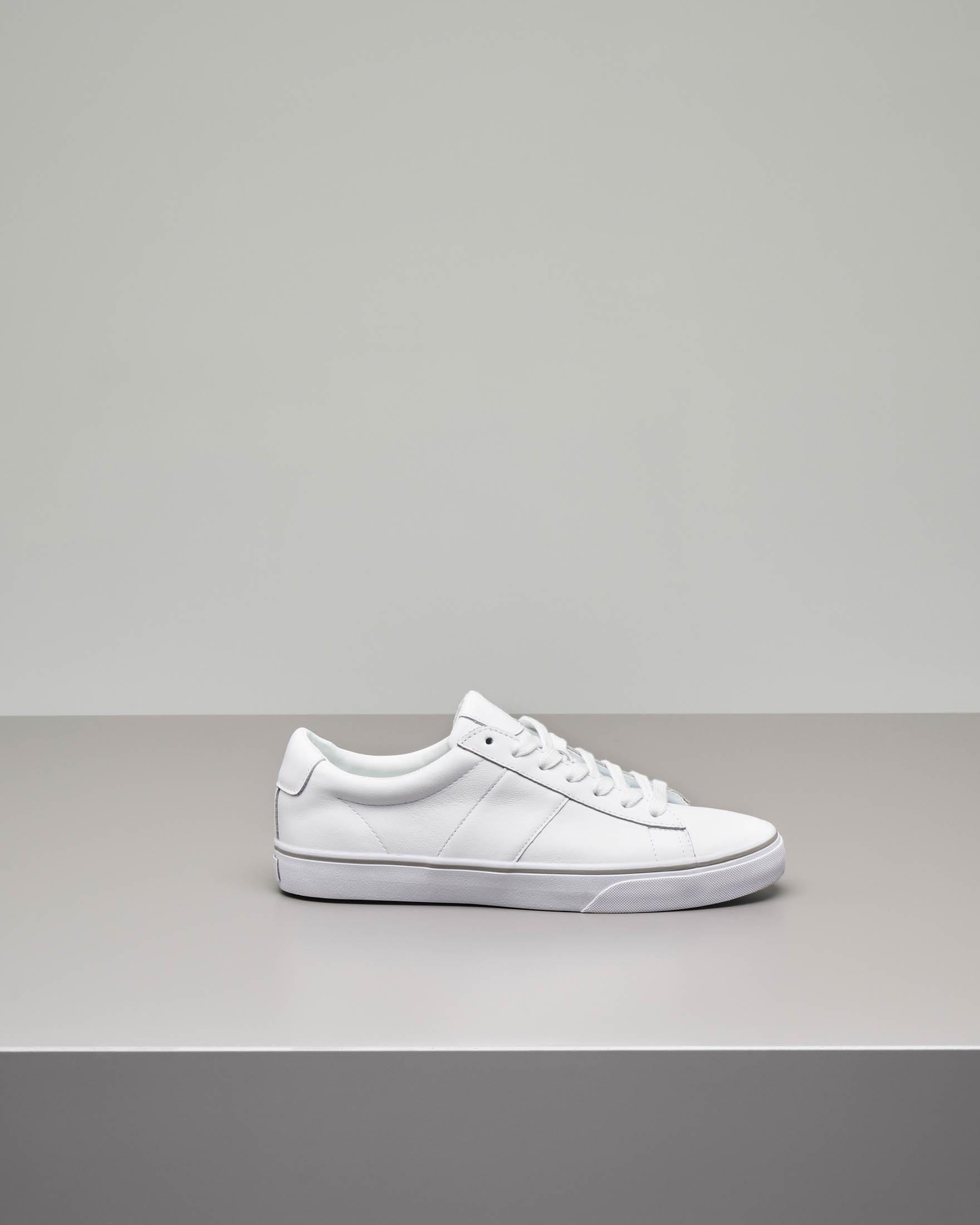 d082d15f97f2c5 Sneakers Sayer bianche in pelle | Pellizzari E-commerce