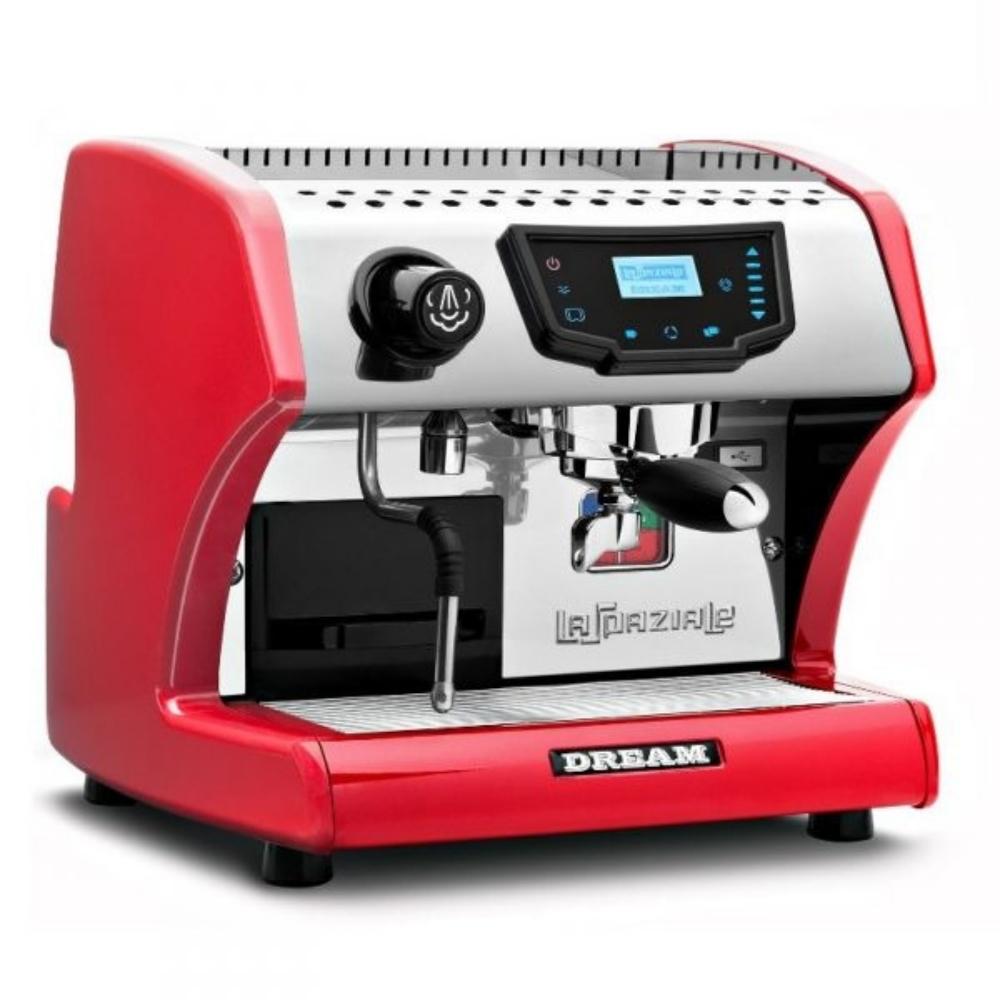 Macchina caffè La Spaziale S1 DREAM T disponibile rossa e nera.