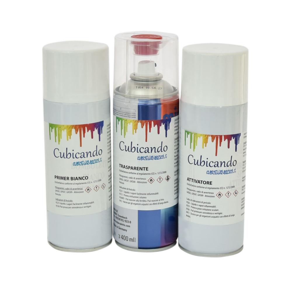 Kit cubicatura Trasparente e Primer Bianco
