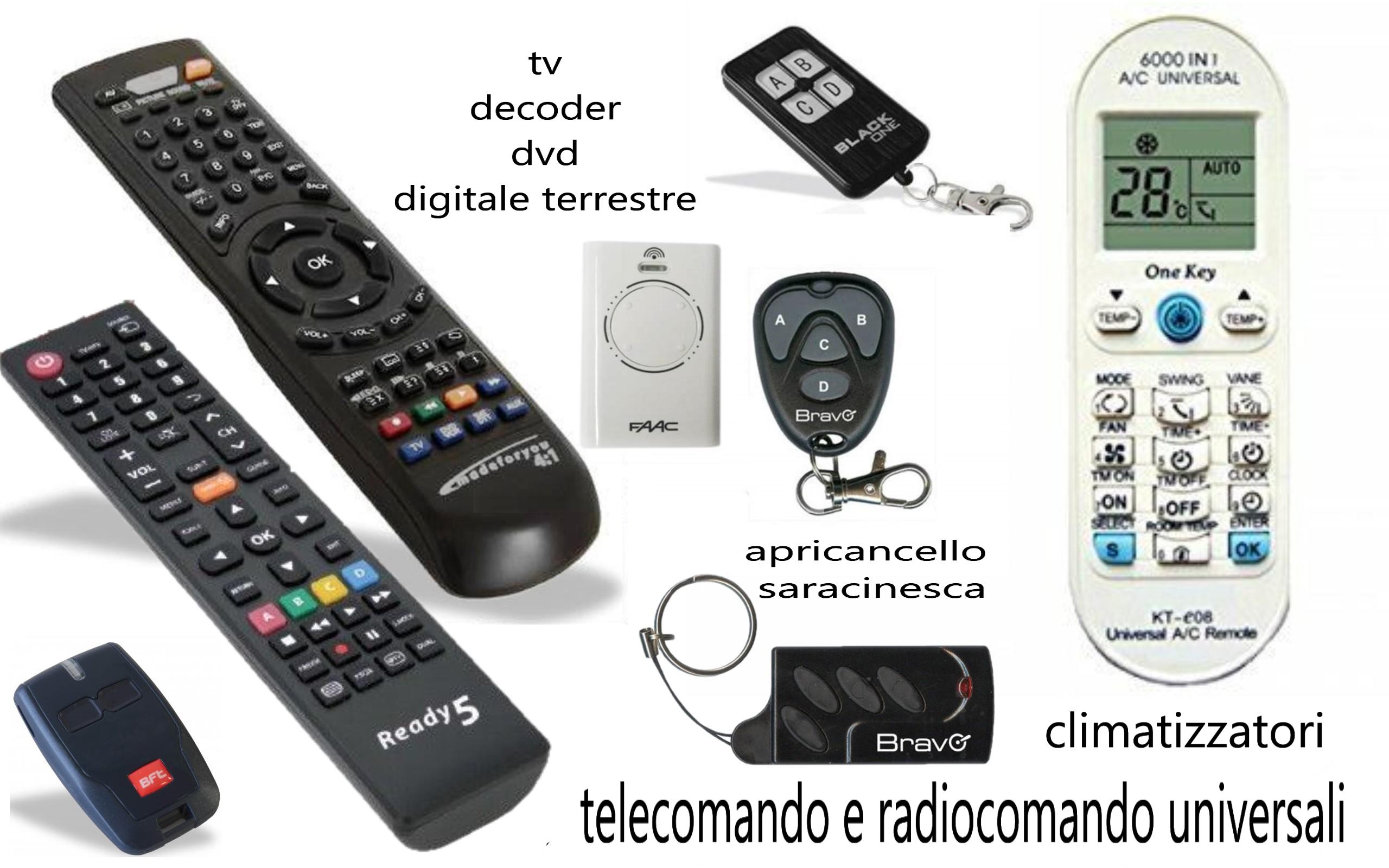 radiocomando e telecomando