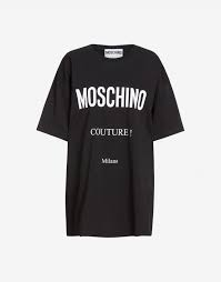 T shirt in cotone  moschino couture