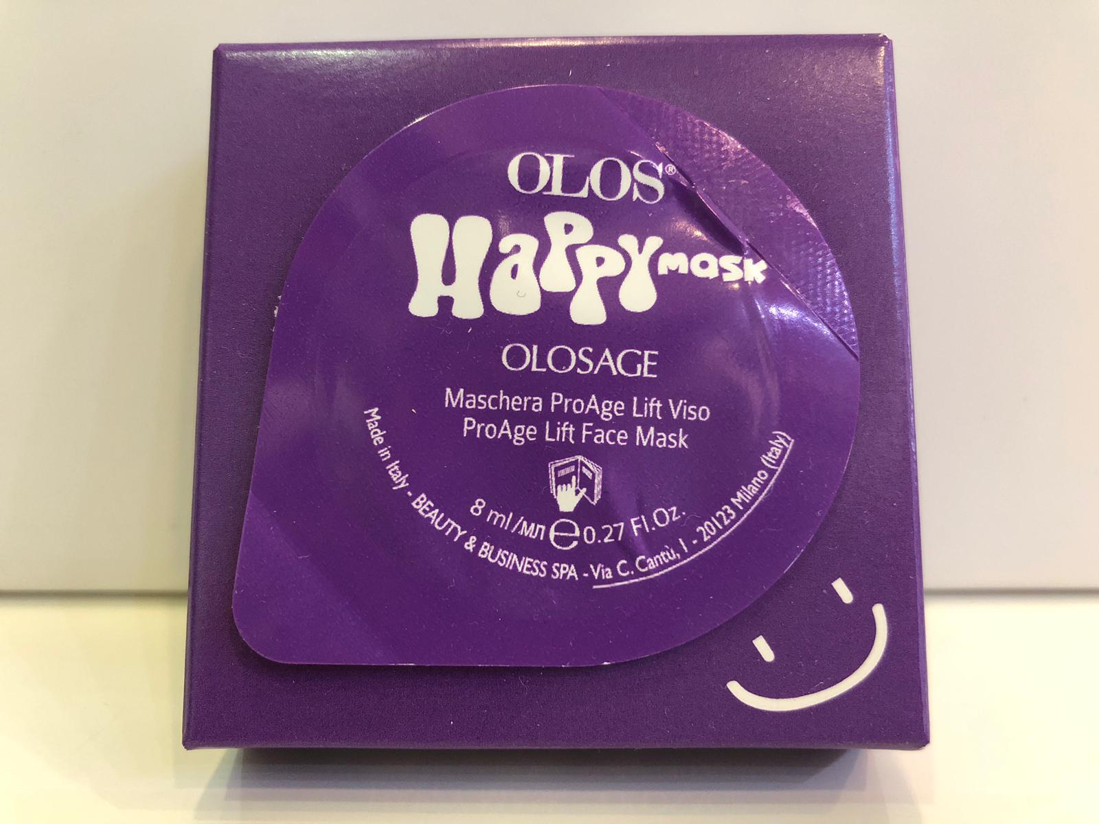 Olos Happy Mask OLOSAGE Maschera ProAge Lift Viso