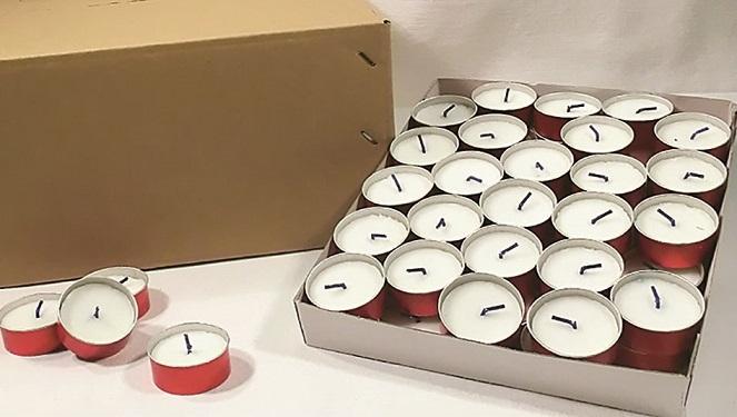2000 lumini in alluminio rosso (4 scatole da 500 pz.)