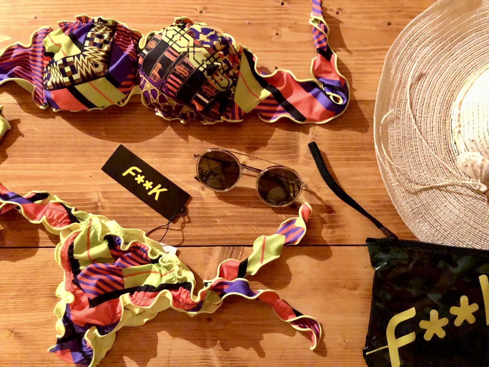 Bikini fascia e slip nodi frou-frou Papunya Effek