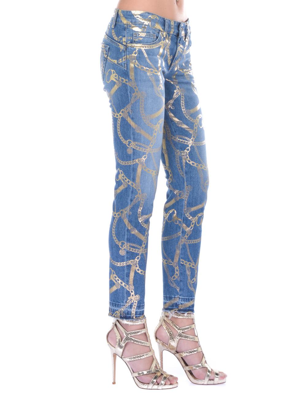 Jeans donna Liu Jo con stampa laminata denim  6d49999186b