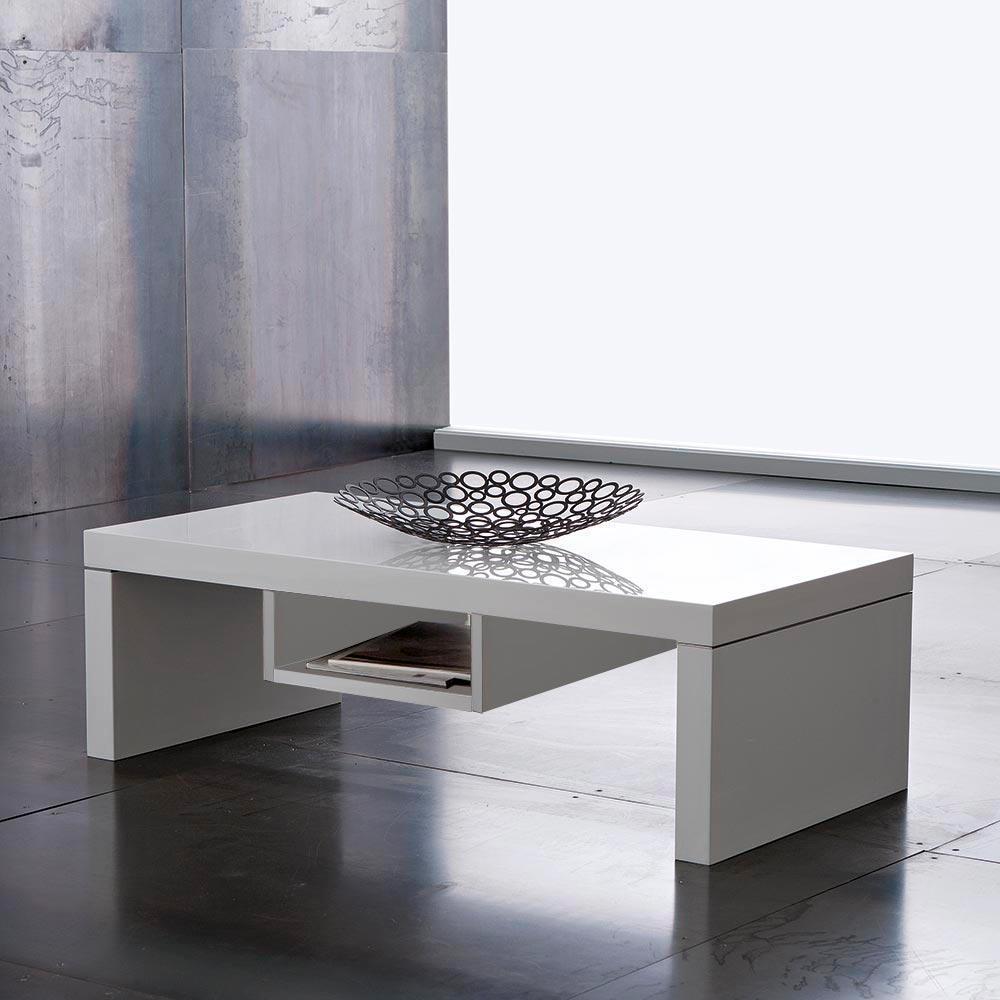 Tavolino Chicago Bianco Lucido