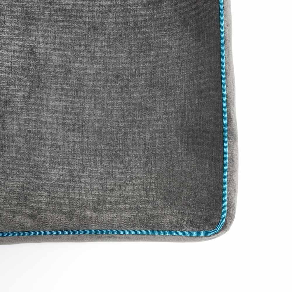 Pouf Athos Plus Grigio Antracite - Azzurro