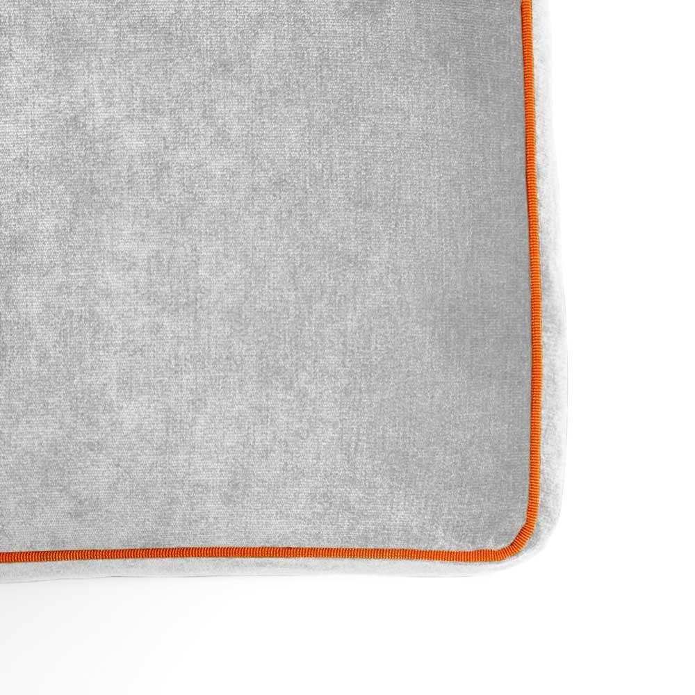Pouf Athos Plus Grigio Chiaro - Arancione