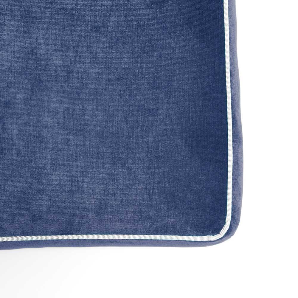 Pouf Athos Plus Blu - Bianco