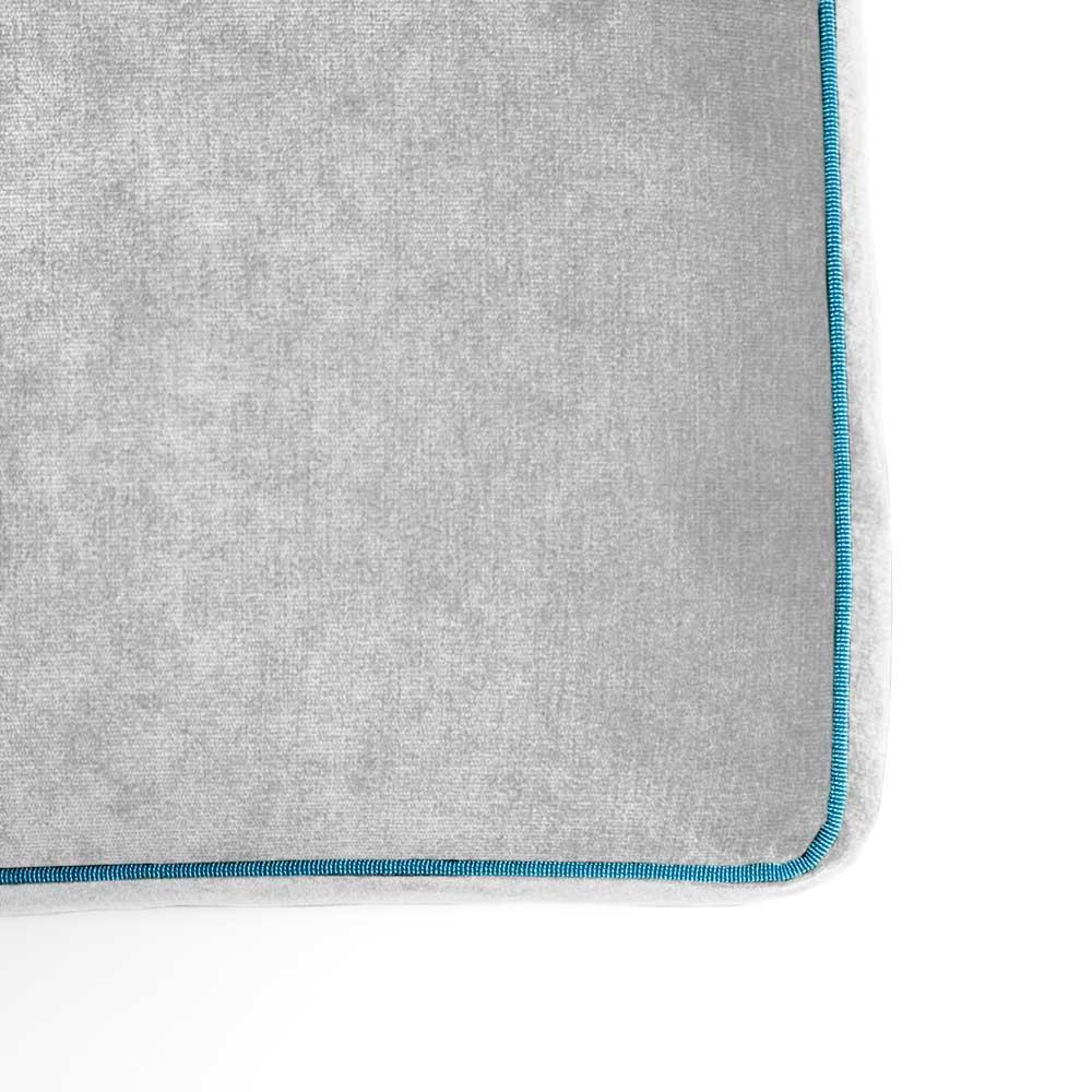Pouf Athos Plus Grigio Chiaro - Azzurro