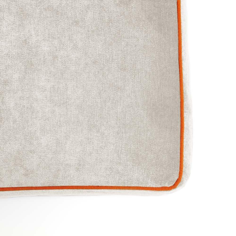 Pouf Athos Plus Beige - Arancione