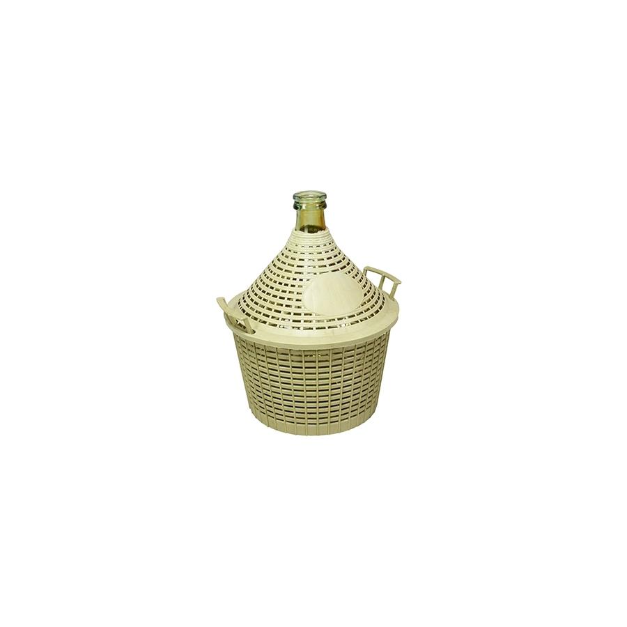 Buy Demijohn Glass 5 Plastic Basket 17457646 | Italy2Us.com