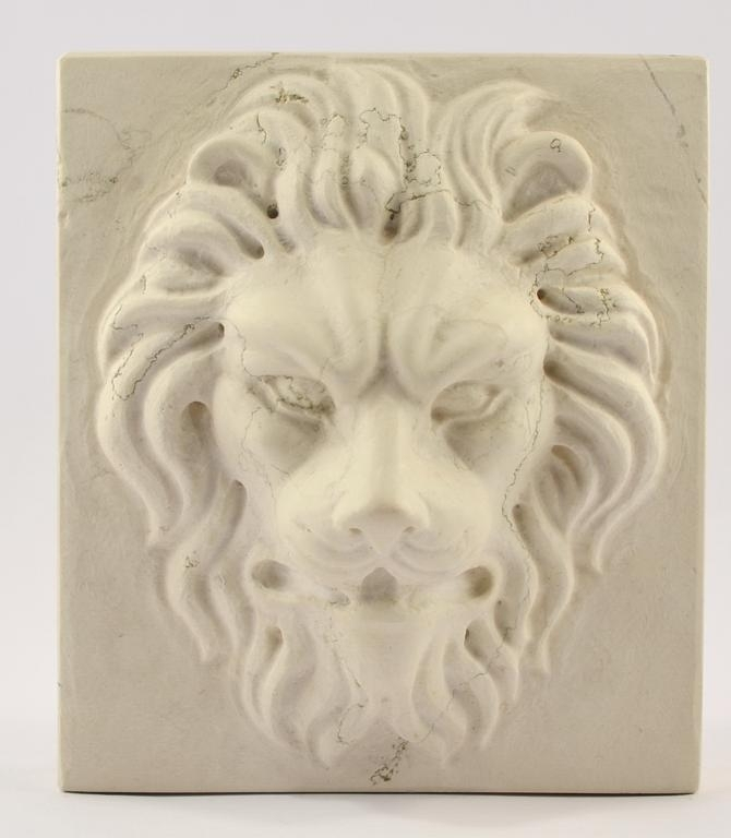 Buy Marble Lion S Head Carved Paperweight 17457703 | Italy2Us.com