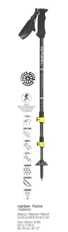 Buy Adjustable Nordic Walking Poles Carbon 17457669 | Italy2Us.com
