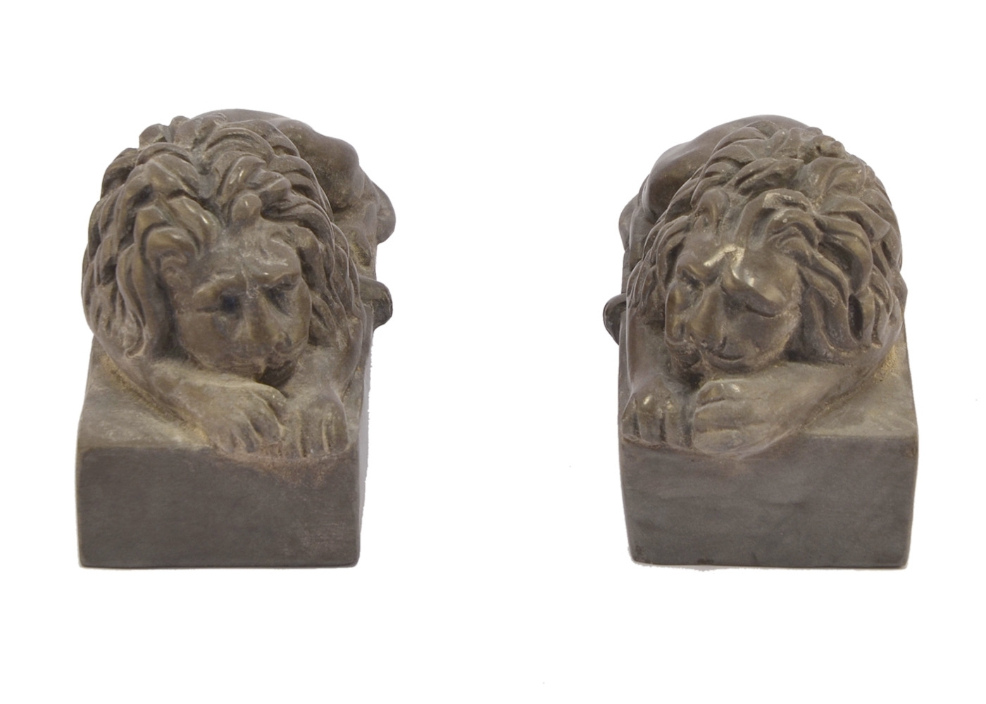Buy Marble Couple Lions Carved Italian 17457758 | Italy2Us.com