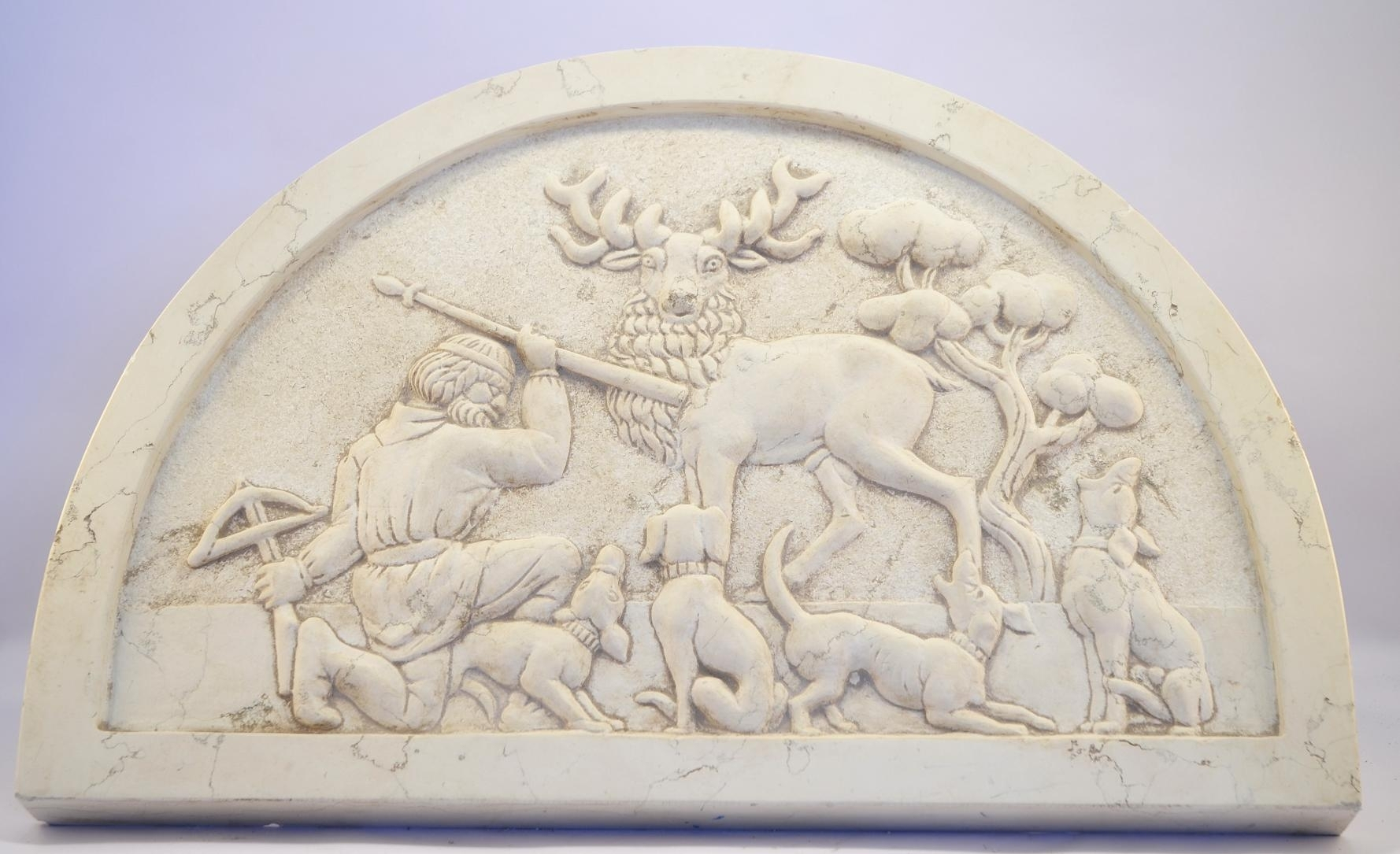 Buy Marble Bas-relief Hunting Scene Hand 17457704 | Italy2Us.com