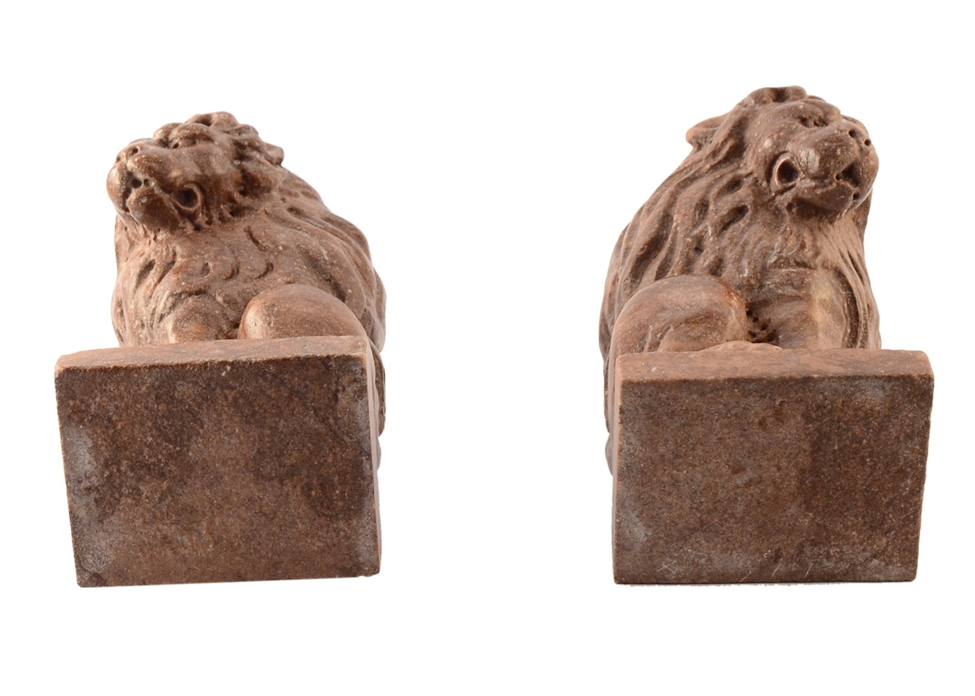 Buy Couple Lions Paperweight Marble Table 17457764   Italy2Us.com
