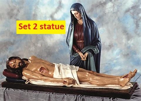 Madonna Addolorata cm. 170 e Gesù morto cm. 160 in vetroresina