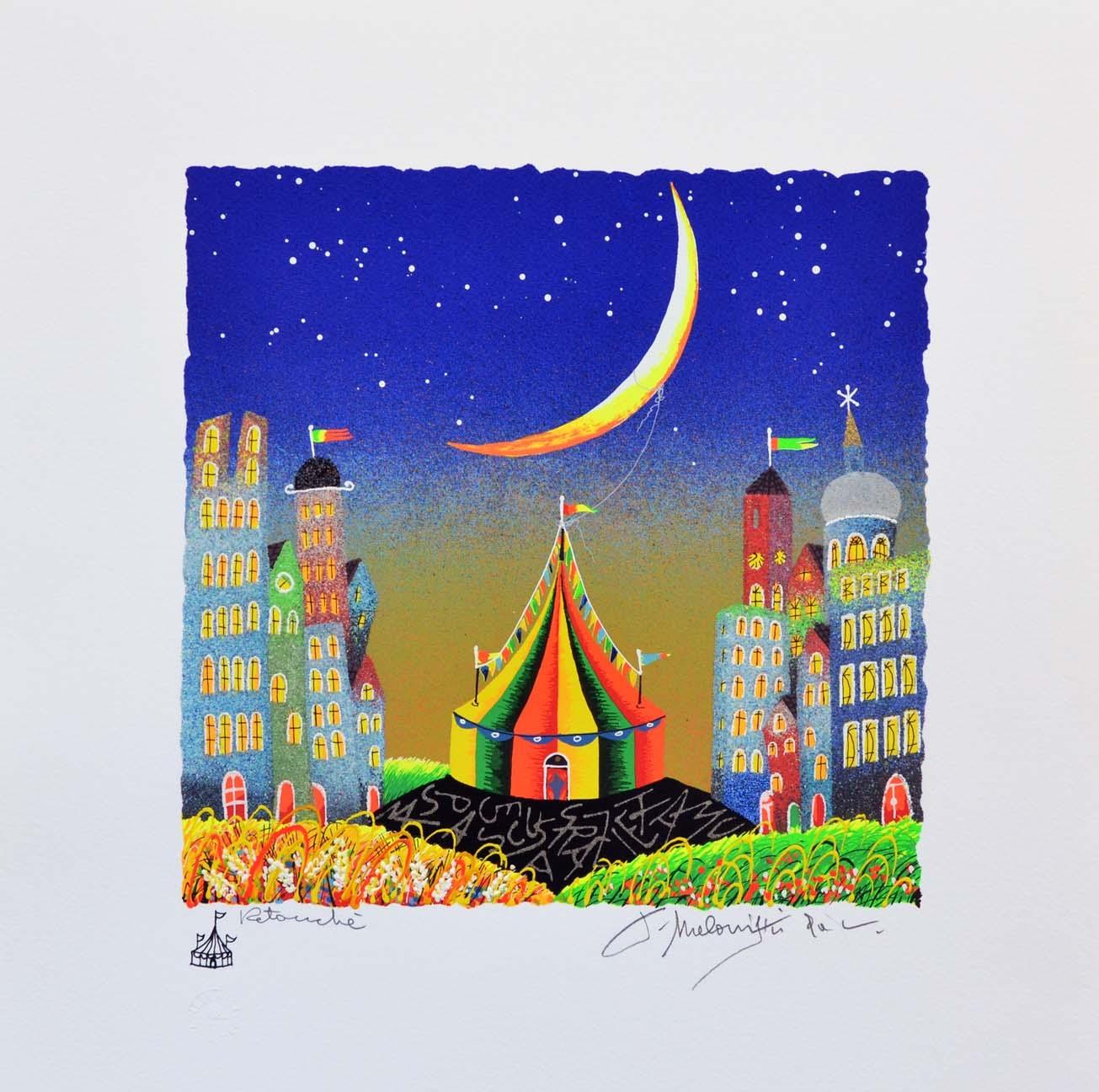 Meloniski - Il circo dei due villaggi - Serigrafia retouchè - Form. cm 35x35