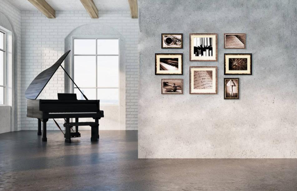 Set di stampe incorniciate Music