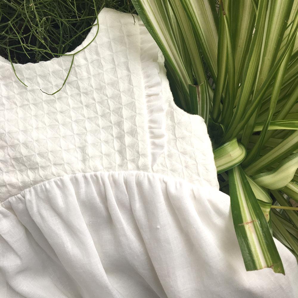 Emilia, abito da Cerimonia in lino biologico