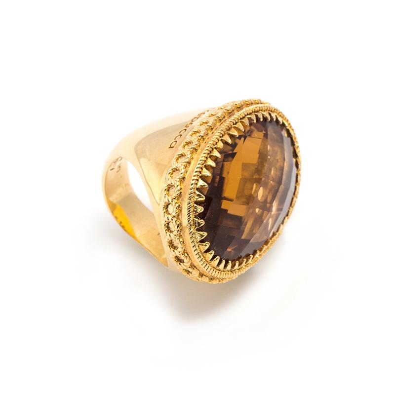 Anello della collezione REBECCA in Bronzo dorato della Collezione ROMA