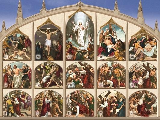 Cartoncino Via Crucis con finestrelle