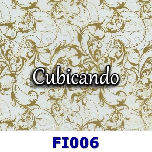 Pellicola per cubicatura  Effetto Floreale Gold