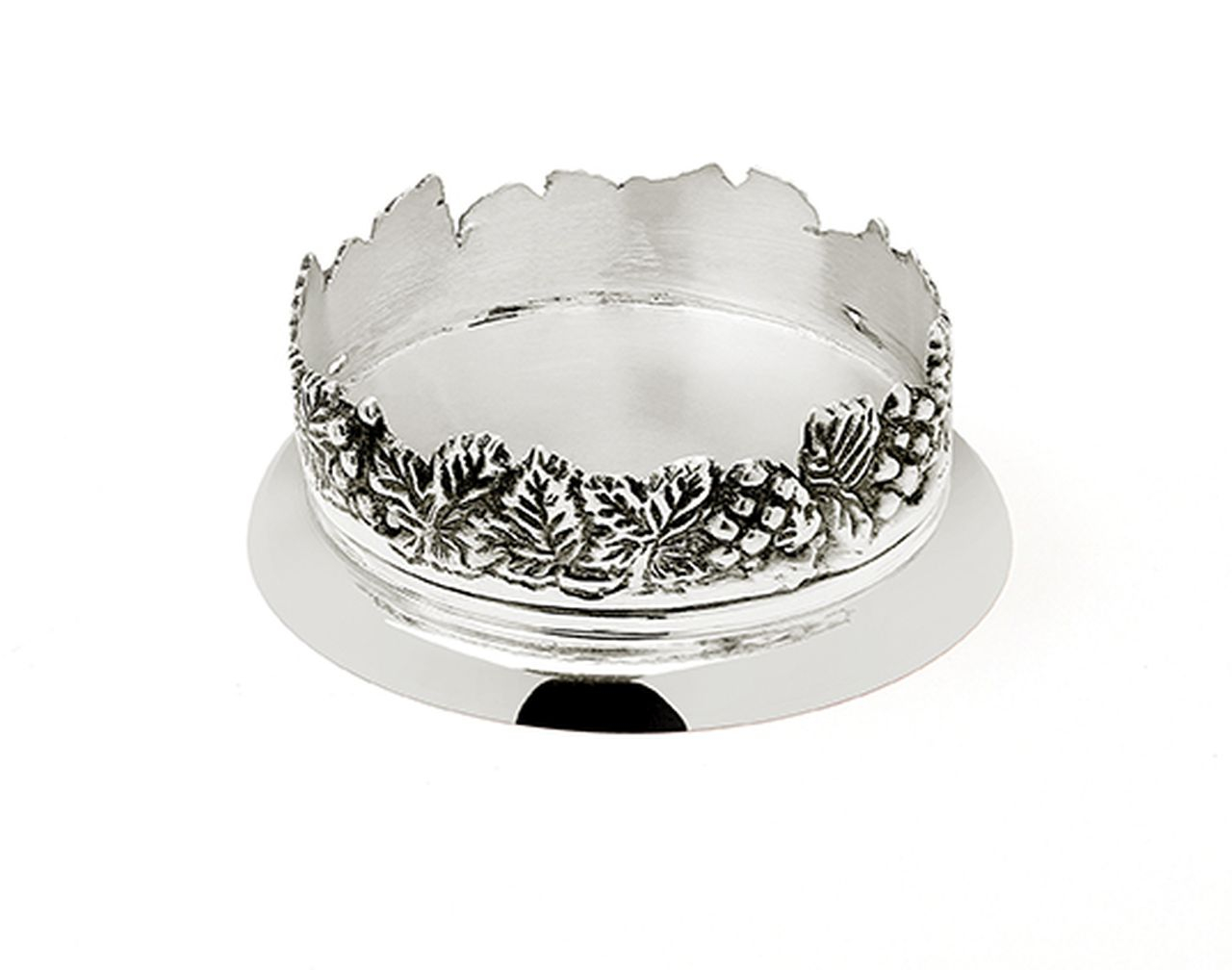 Sottobicchire placcato argento sheffield stile grappe cm.4h diam.11