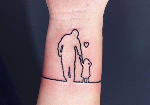 Festa del pap for Tatuaggi dedicati ai figli frasi