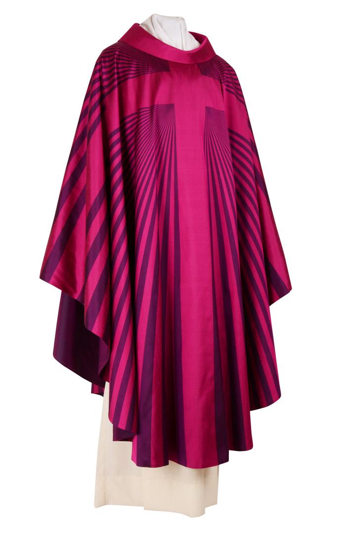 Casula CSER7 Croce raggi Viola - Seta Foderata