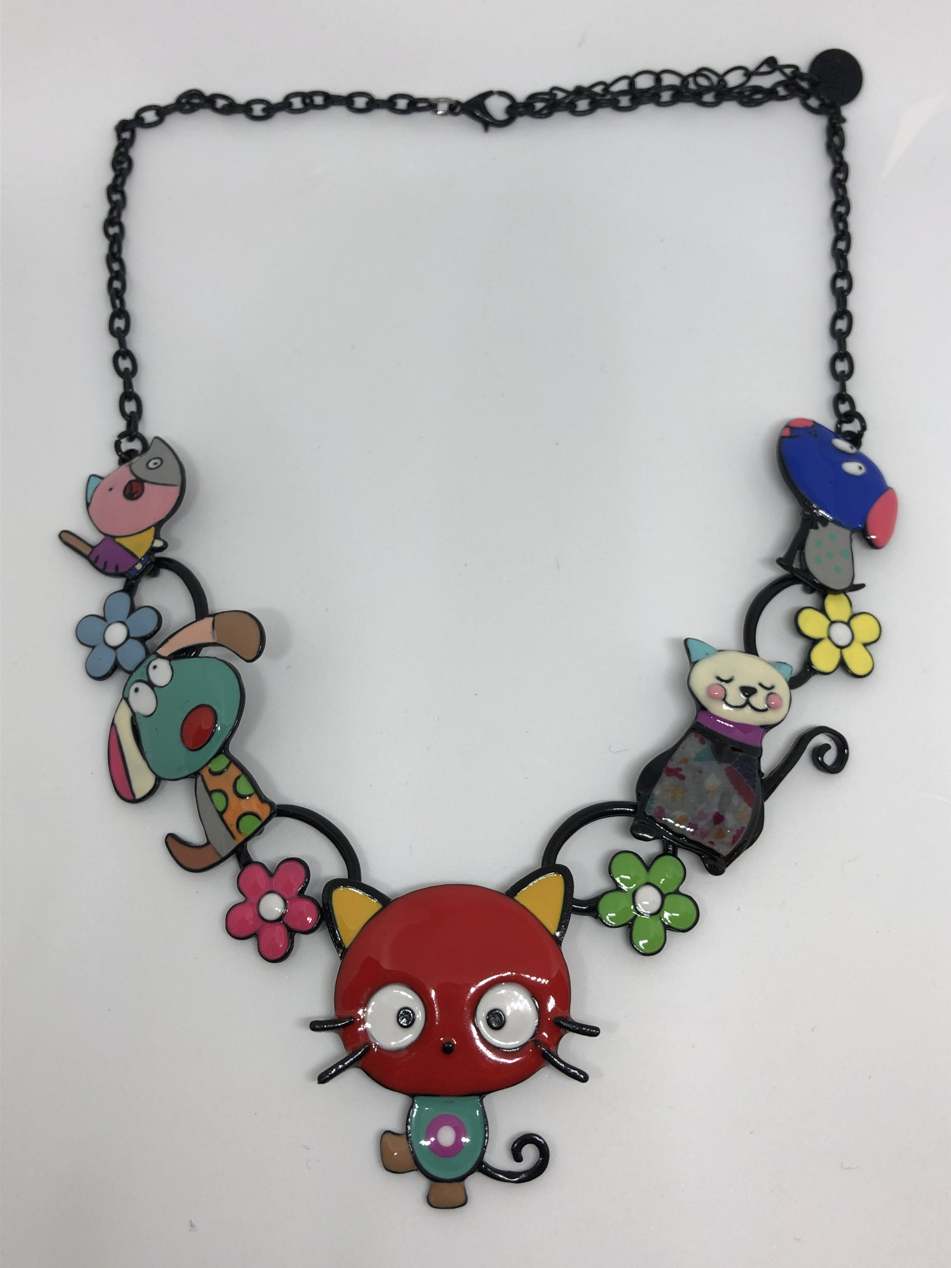Collier Kitty rouge (19ean149)