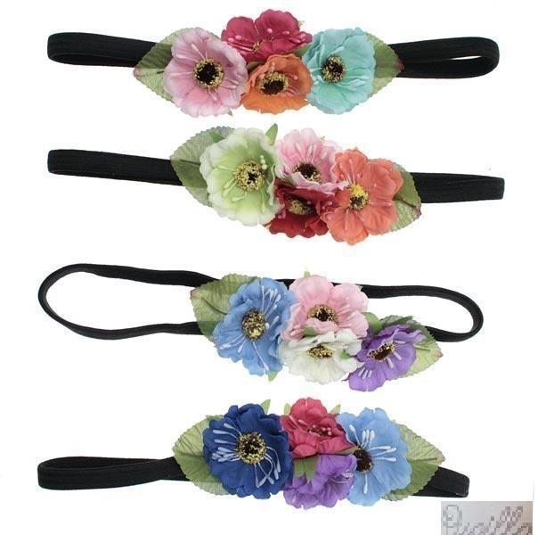 fascia f.capelli con fiori