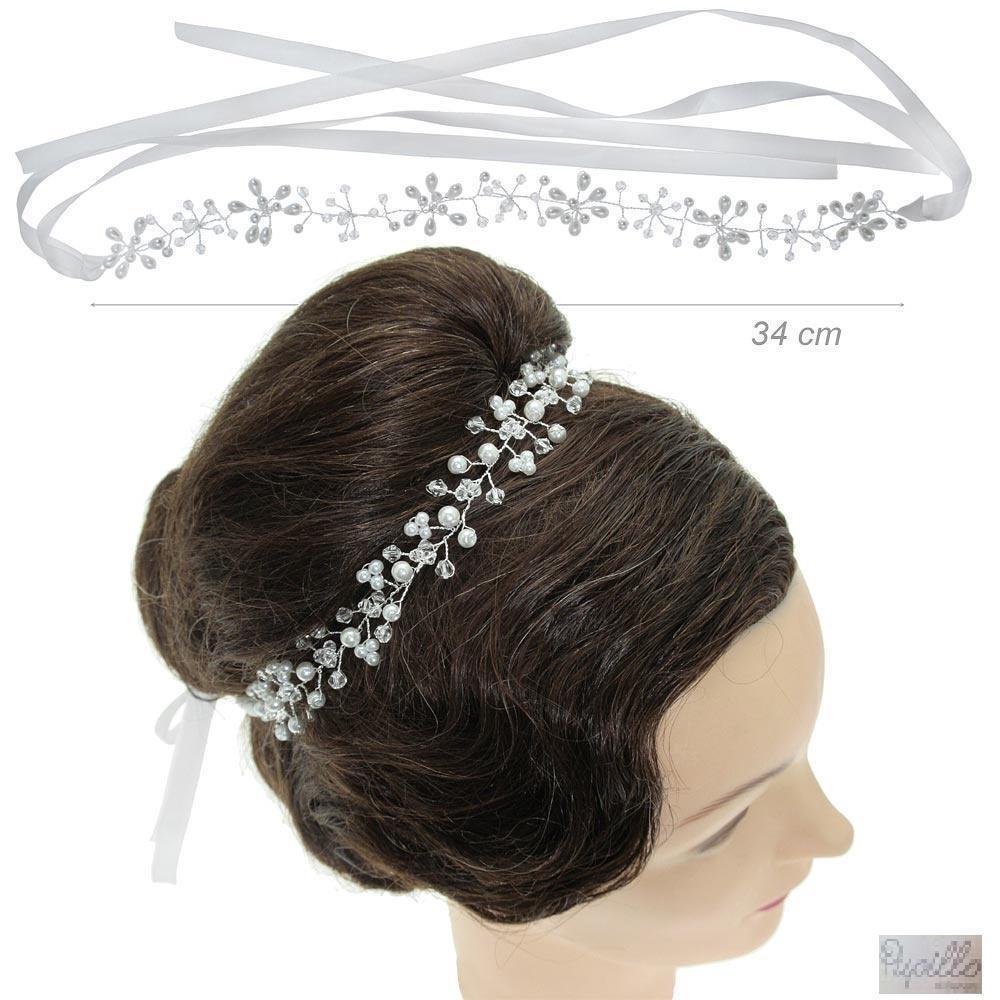 fascia per capelli perle e strass