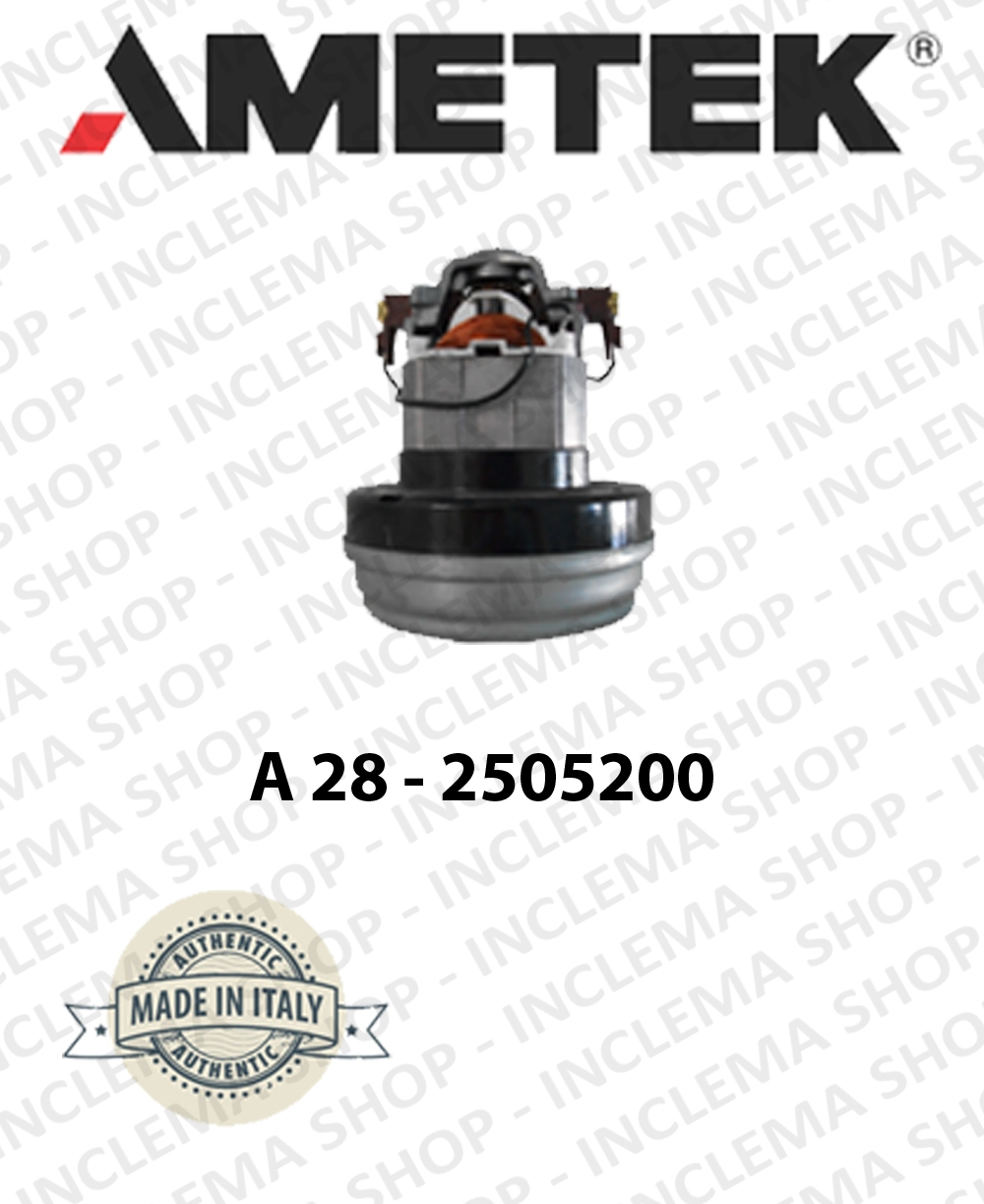 Vacuum motor A28 - 2505200 AMETEK ITALIA for vacuum cleaner