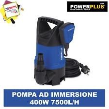 Pompa ad immersione Powerplus 400W acque scure capacità 7500L/h
