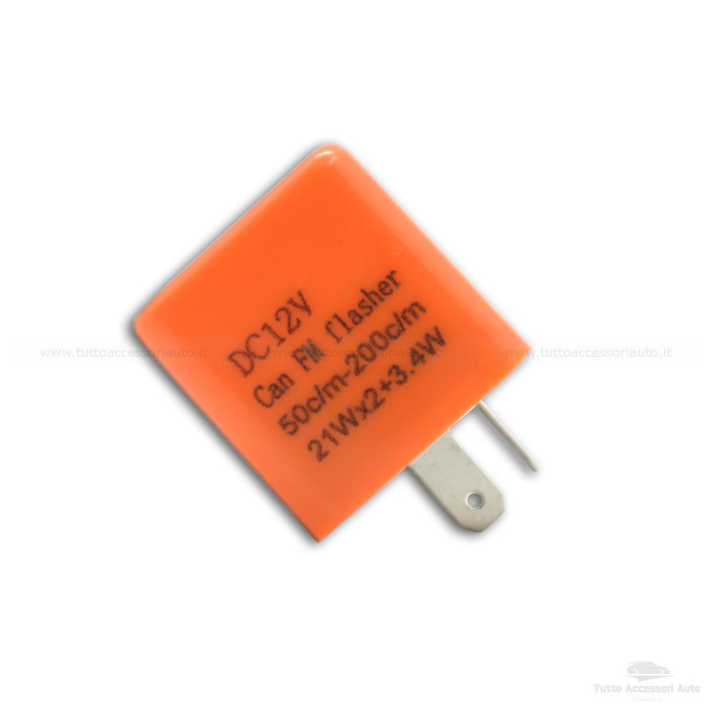Relè 12V Con Regolatore Frequenza Lampeggio Frecce Led Indicatori Di Direzione 2 Pin Universale Per Auto E Moto