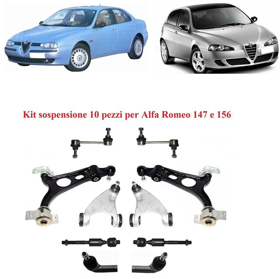 Kit sospensione 10 pezzi per Alfa 147 & 156