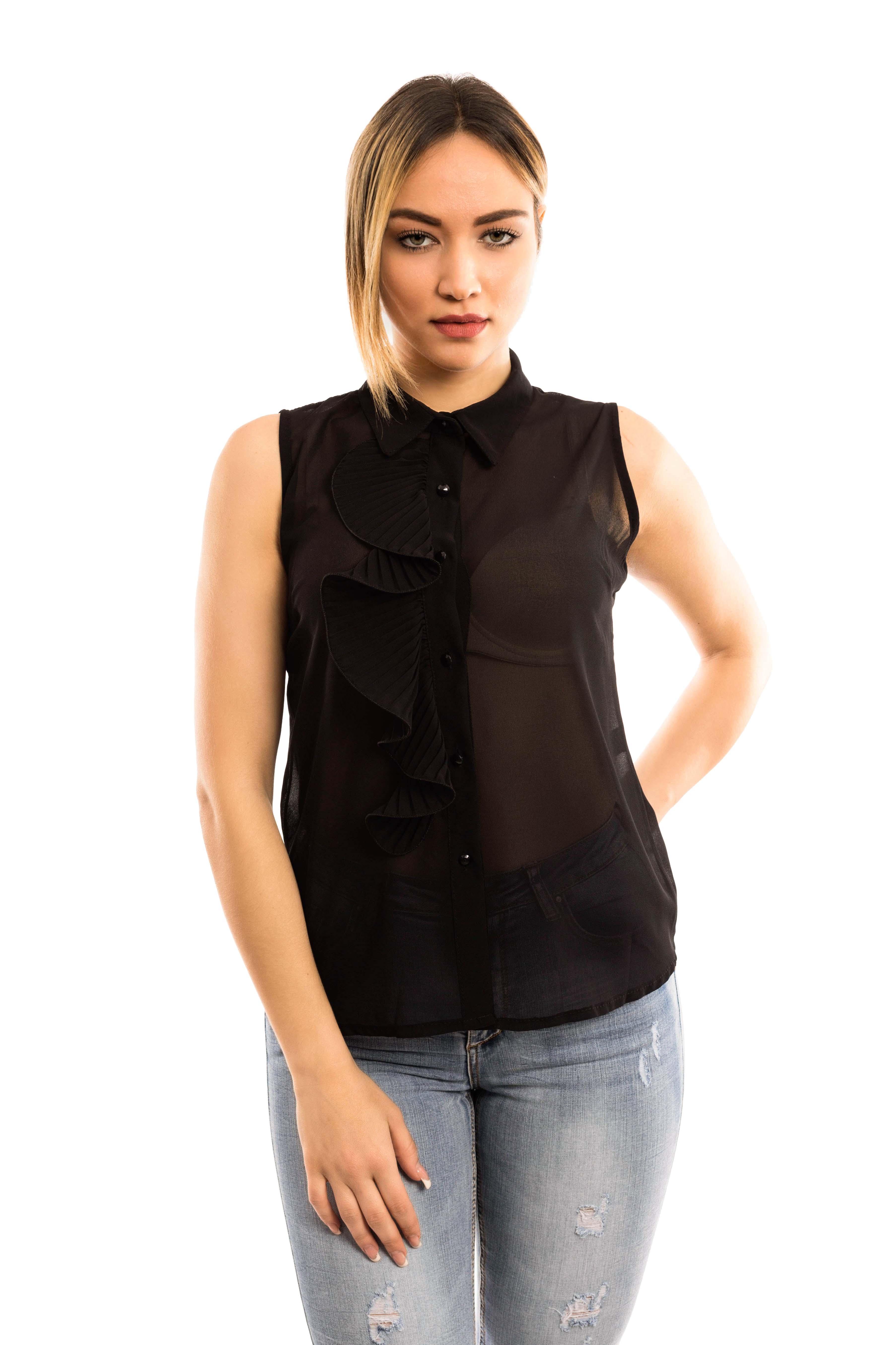 Camicia giromanica - colore Nero