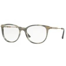 Burberry - Occhiale da Vista Donna, Striato Grigio BE 2255Q 3658 51